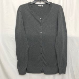 GAP Gray Cardigan Sweater XL Tall